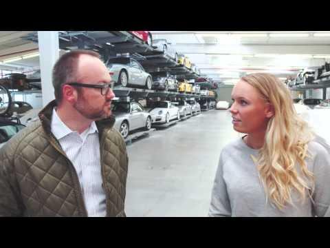 Caroline Wozniacki visiting the Porsche Museum