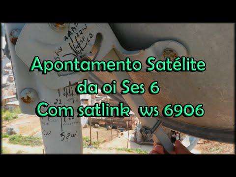 Apontamento do satelite da oi ses 6 com satlink  nova tp