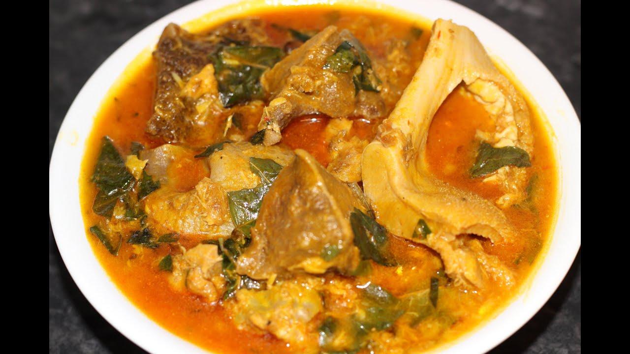 Oha Soup Nigerian Food Nigerian Cuisine Youtube