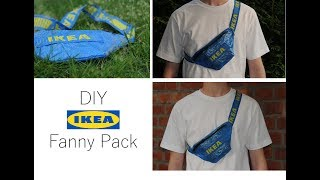 How to make a DIY Ikea Fanny Pack for 1$ tutorial 2018