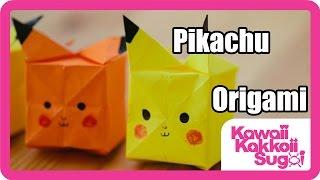 Origami Pikachu yapımı - kağıttan Pikachu