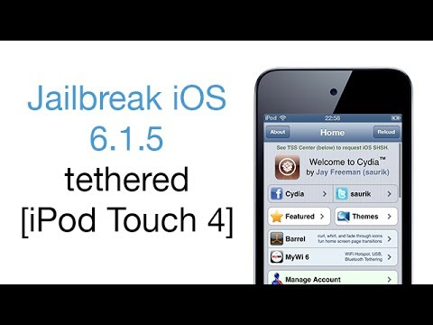 Tutorial Jailbreak iOS 6.1.5 tethered [iPod Touch 4] - Português