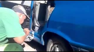 රොමේනියාවේ වාහන තීන්ත ආලේප කරන අලුත්ම ක්රමය !! How to paint cars in Romania