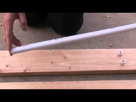 How to build a youth recurve bow out of flattened pvc pipe for Bow made out of pvc pipe