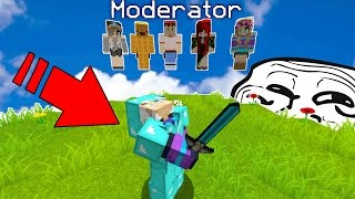 TESTING MY MODERATORS & HACKING ON MY SERVER (Minecraft Trolling)