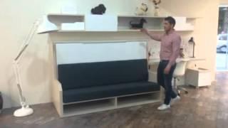 cama abatible con sof para dormitorios pequeos versatile