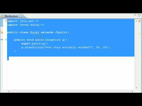 Intermediate Java Tutorial - 20 - Introduction to Applets