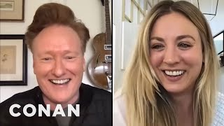 Kaley Cuoco On The Possible Romance Between Harley Quinn & Poison Ivy - CONAN on TBS