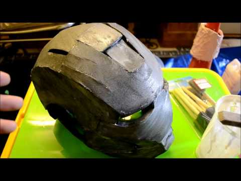 5 - (Sealing the foam  part 2) Foam Pepakura Iron Man Suit/Armor explanation