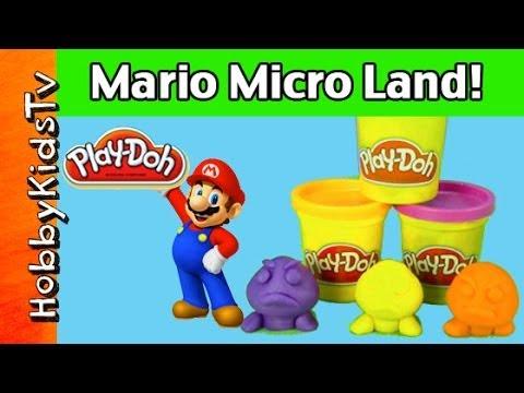 Play-Doh Super Mario Bros. Surprise Eggs Wii U Micro Land Goombas Bowser Luigi Jakks Pacific