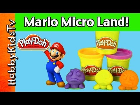 Play-Doh Super Mario Bros. Surprise Eggs Wii U Micro Land Goombas Bowser Luigi Jakks Pacific