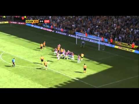 Wolves vs. Stoke - 14.08.10 - Jones staggering goal from free kick Video