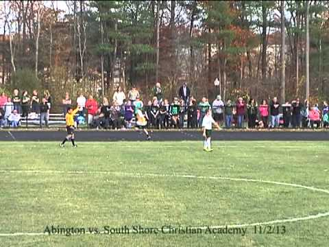 Abington vs. South Shore Christian Academy 11/2/13 - Boys Soccer