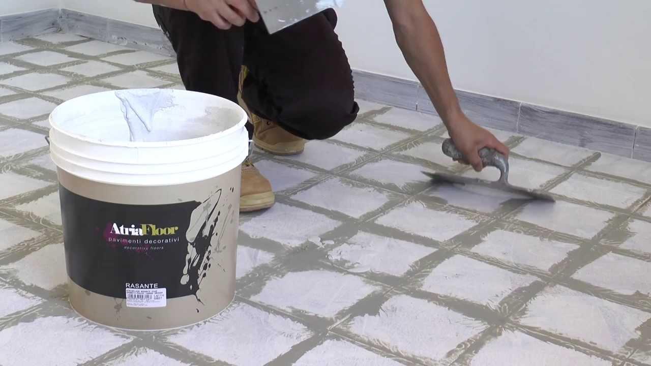 Atriafloor rasante grana grossa applicazione su - Fondo rasante per piastrelle murali ...