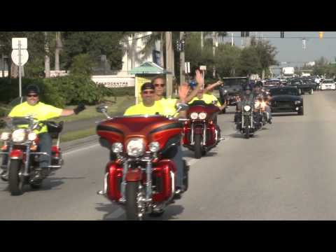 Dream Ride Rally 2013: Convoy Leaves West Palm Beach, FL