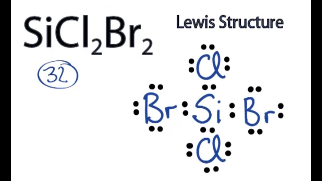 Sicl2br2 Lewis Structure  How To Draw The Lewis Structure