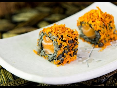 Halloween Inspired Sushi Roll Recipe