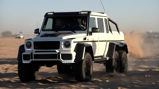 Dan Bilzerian Debuts His New 6wd Benz in Glamis Sand Dunes, California