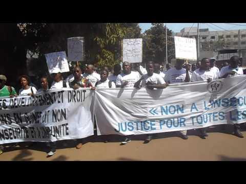 Les manifestants de Conakry contre l'insécurité et l'injustice