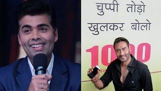 Karan Johar breaks silence on Ajay Devgn, KRK controversy   Filmibeat