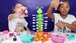 Giggle Wiggle Toy Challenge Game - Bubble Gum Gumballs - LOL Surprise - Num Noms - Kids Toys