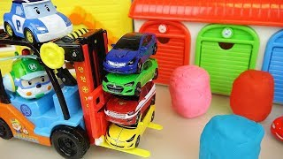 Fork lift car toys and surprise Play doh play