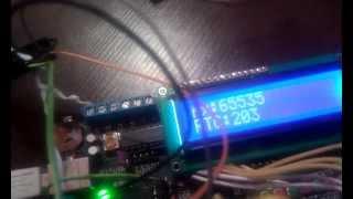 ESC, Atmega8 - SPI - Atmega32, LCD