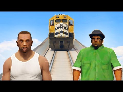 CAN CJ & BIG SMOKE STOP THE DAMN TRAIN IN GTA 5?
