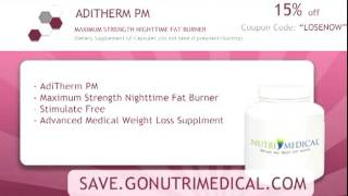 ADITHERM PM - Maximum Strength Night Time Fat Burner, Supplement, NutriMedical