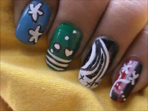 How to use nail art brushes demonstration! Review - Part2