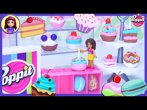 Poppit Pop'n'Display Bakery DIY Clay Cakes Donuts Macarons Create Silly Play - Kids Toys