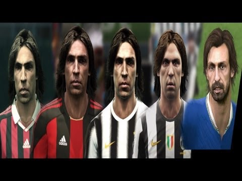 Andrea PIRLO from PES 3 to PES 2014 (Face Evolution)