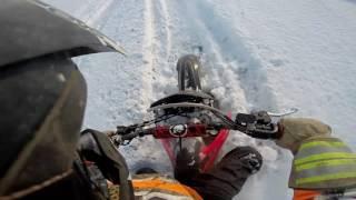 Honda crf450x Dirtbike Winter Ride Part 2