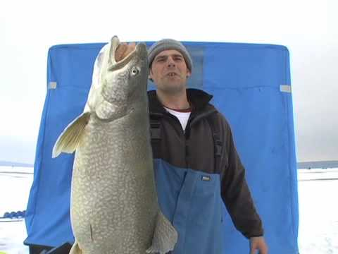 Monster Lake Trout Ice Fishing Video - YouTube
