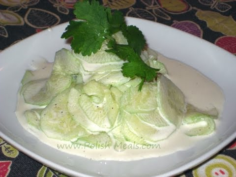 Polish Food - Fresh Cucumber Salad (Mizeria) Recipe