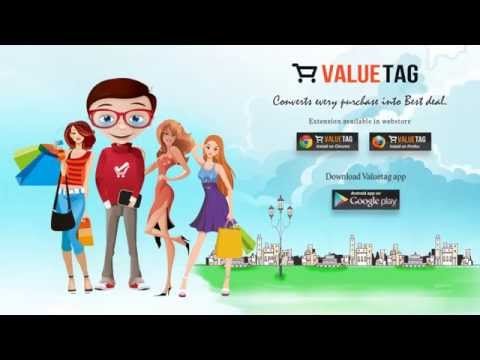 Valuetag - Amazon, Flipkart, Snapdeal, myntra, croma and 70+ other stores on fingertip
