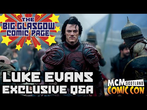 EXCLUSIVE Q & A with Luke Evans at MCM Scotland Comic Con 2014