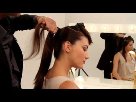 L'Oreal Paris Counsulting Hairstylist  Johnny Lavoy creates a Audrey Hepburn  inspired updo