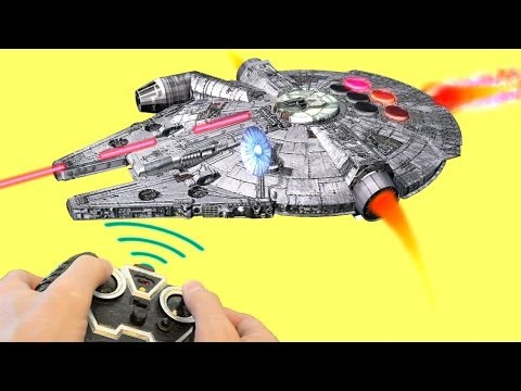 MILLENNIUM FALCON vs. ANGRY BIRDS  Star Wars DEATH STAR -- Part1 by Toys@Tube