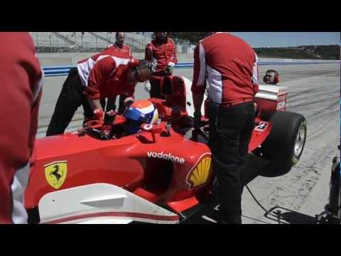 Ferrari Racing Days 2012 Laguna Seca preparando el Ferrari 2003AG por elmexicanodeportes Parte 2