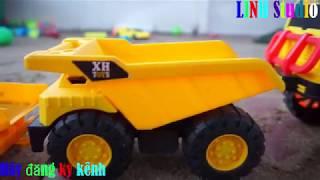 Xe Cần cẩu, xe tải, máy xúc làm việc tại công trường xây dựng🚛Xe Cần cẩu, máy xúc đồ chơi🚛
