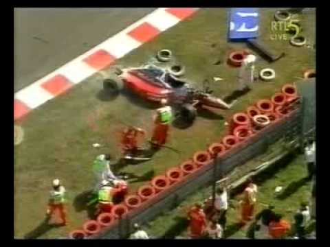 This is the heavy crash of Jos Verstappen in his Arrows/Footwork during the Grand Prix of Belgium at the great circuit of Spa Francorchamps in 1996. He was v...