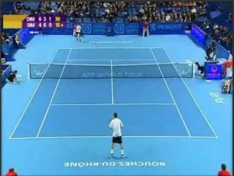 47-shot rally between Gilles Simon and Grigor Dimitrov Video