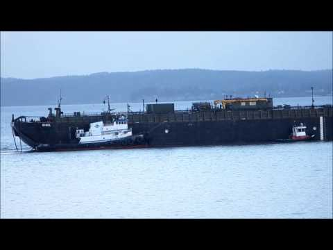 petroleum barge Rigel in Possession Sound in Everett, WA 02/13/14