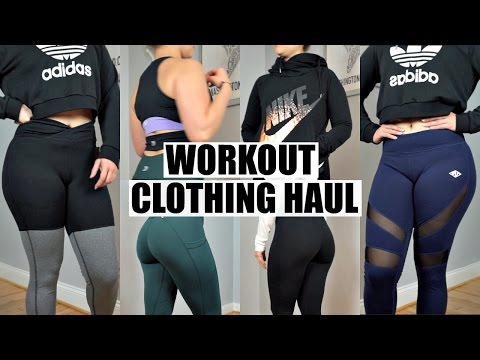 Workout Clothes Haul & Try On   Nike. Pumpchasers. Ledbetter. Champion Review
