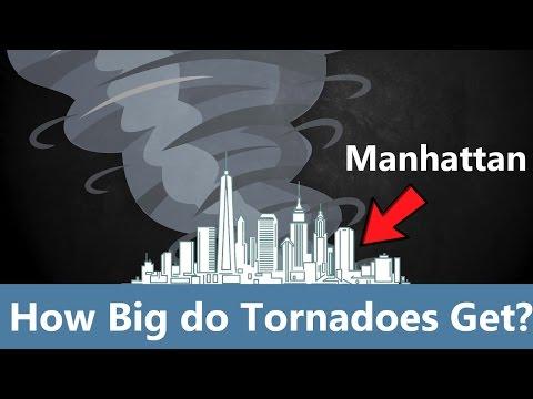 How Big do Tornadoes Get?
