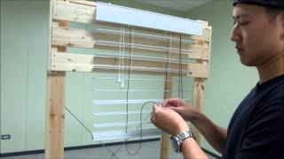 How to Restring a Horizontal Wood Blind / Fauxwood Blind