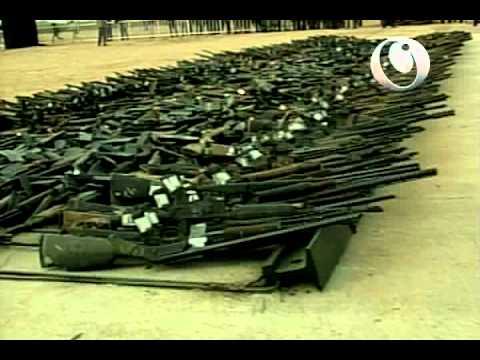 Destrucción de armas incautadas por el Ejército Mexicano