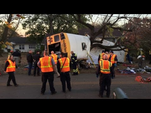 At least 6 dead in school bus crash