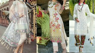 Beautiful Eid dresses for girls|| 3D Embroidered net work dresses||2018